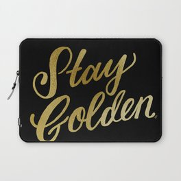 Stay Golden (Black & Gold) Laptop Sleeve