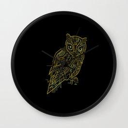 Electric Owl Wall Clock