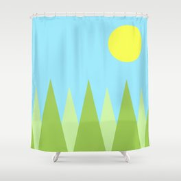 Sunny Day Happy Painting | For kids! Shower Curtain