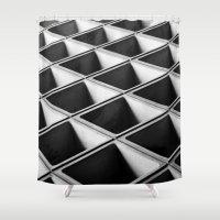 grid Shower Curtains featuring Grid by blurdvizionz