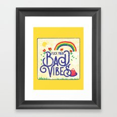 NO BAD VIBES Framed Art Print