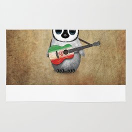 Baby Penguin Playing Iranian Flag Acoustic Guitar Rug