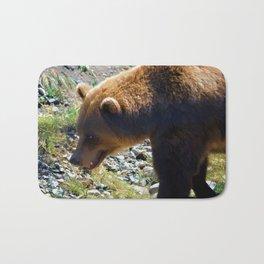 Griz - Wildlife Art Print Bath Mat