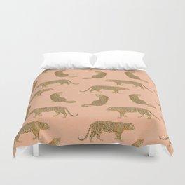 sunset leopards Duvet Cover
