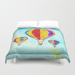 Beautiful Balloons Mosaic-Look Duvet Cover