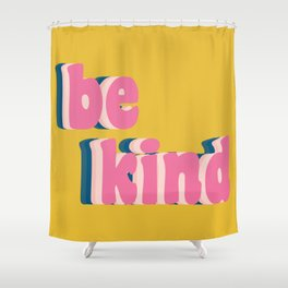 Be Kind Inspirational Anti-Bullying Typography Shower Curtain