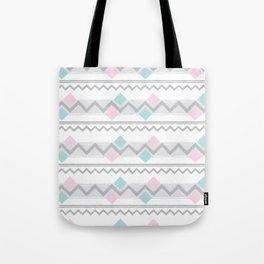 Pastel Chevrons Tote Bag