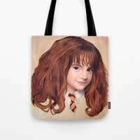 hermione Tote Bags featuring Hermione by Shannon Forringer