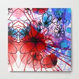 Bold Modern Flower Art - Wild Flowers 3 - Sharon Cummings Metal Print