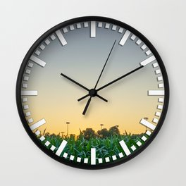 Clear Skies Sunset Wall Clock