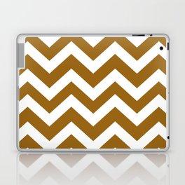 Golden brown - brown color - Zigzag Chevron Pattern Laptop & iPad Skin