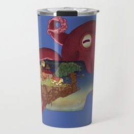 World in bottle: Atalantis (Octopus - monster) Travel Mug