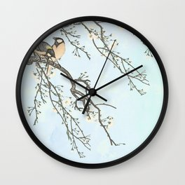 Birds and blossoms Wall Clock