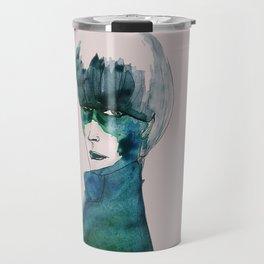 Blue-Green Skin Travel Mug