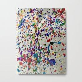 Splatter Paint SN Metal Print
