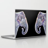 asian Laptop & iPad Skins featuring Asian Elephant by Tim Jeffs Art