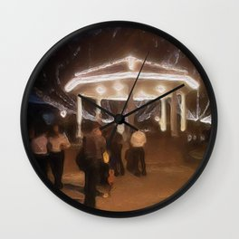 Wedding in the Pavilion Wall Clock