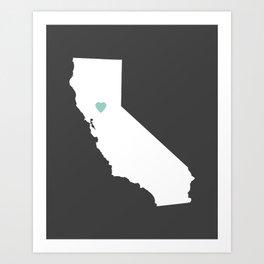 California Love in Charcoal Art Print