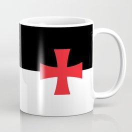 Knights Templar Flag - High Quality Coffee Mug