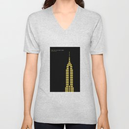New York Skyline: Empire State Building Unisex V-Neck