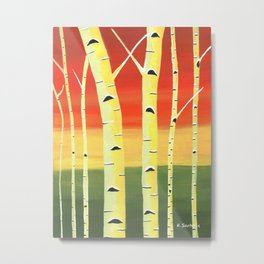 Birch Woods Metal Print