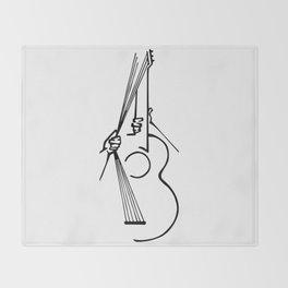 Pull those strings Throw Blanket