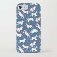 unicorns iPhone & iPod Cases featuring Unicorns by Sara Maese