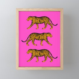 Tigers (Magenta and Marigold) Framed Mini Art Print