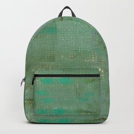 Mint green turquoise paths Backpack