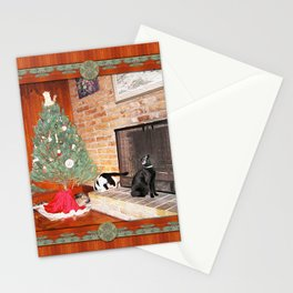 Curious Christmas Cats Stationery Cards