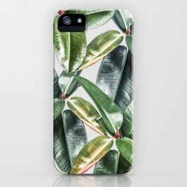 Tropical Leaves Green Lush Pattern | Lush Leaf Photography iPhone Case