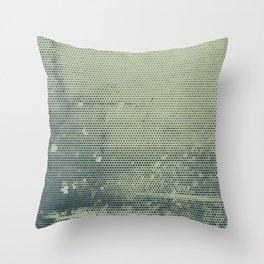 Grunge Delight Sepia Halftone Throw Pillow