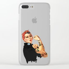 Tattooed Rosie the Riveter Clear iPhone Case