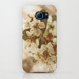 white blossoms on a tree. iPhone Case