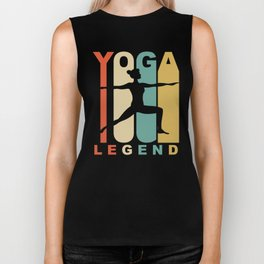 Vintage Style Yoga Legend Warrior Two Yoga Pose Retro Biker Tank