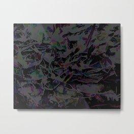 Flora Celeste Magnetite Leaves Metal Print