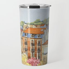 Brussels: neighborhood in Forest area. Travel Mug