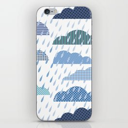 Rainy seamless pattern with clouds iPhone Skin