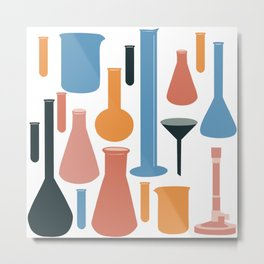 Laboratory Glassware No. 3 Metal Print