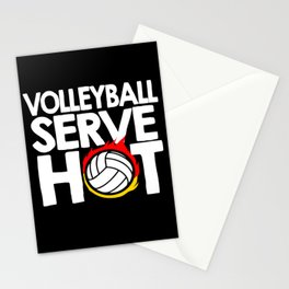 Volleyball Hot Serve Ball Spike Block Set Team Stationery Cards