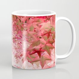 Sweetgum Leaves -Version Red Coffee Mug