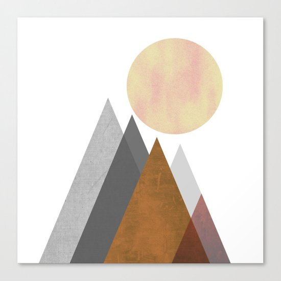 The Gathering, Geometric Landscape Art Canvas Print