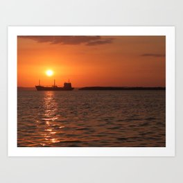 Sunset in Cuba Art Print