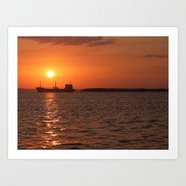 Sunset in Cuba Art Print