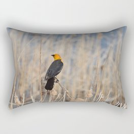 Yellow Headed Blackbird Rectangular Pillow