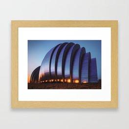 Kauffman Center Architecture - Kansas City Dawn Framed Art Print