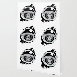 Space Monkey Black & white Wallpaper