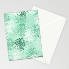 Mint Fresh Watercolor Abstract Stationery Cards