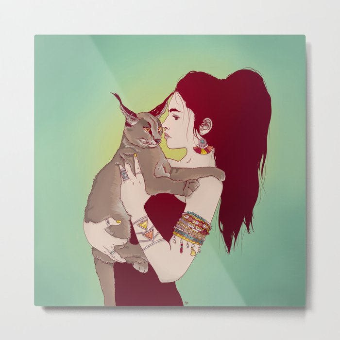 Wildcat Lady Metal Print