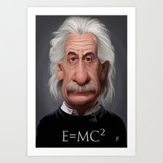 Celebrity Sunday ~ Albert Einstein E=MC² Art Print